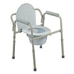 Drive Medical Folding Steel Commode - 4 / Case by Drive Medical Commodes. $242.00