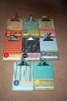 custom clipboard teacher gift- a nice gift to fellow teachers. maybe beginning of the year???