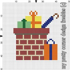 my pretty corner: november 2012 Cross Stitch Freebies, Cross Stitch Charts, Cross Stitch Patterns, Melting Beads, Old Magazines, Hama Beads, Beading Patterns, Diy For Kids, Pixel Art
