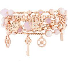 Henri Bendel Petal Charm Kitchen Sink Bracelet ($99) ❤ liked on Polyvore featuring jewelry, bracelets, accessories, pulseiras, rose gold, swarovski crystal charms, charm bangle, henri bendel, henri bendel jewelry and henri bendel bangle