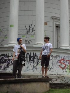 something like streetart :P Anthony Kiedis and Josh Klinghoffer in Warsaw ;)