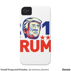 Donald Trump 2016 President Retro iPhone 4 Case. Donald Trump for President retro iPhone 4 case with an illustration showing American real estate magnate, television personality, politician and Republican 2016 presidential candidate Donald John Trump with words 2016 Trump done in retro style. #Trump2016 #republican #americanelections #elections #vote2016 #election2016