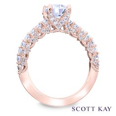 09b9375a9 Rose gold with elegant embellished detailing on this Scott Kay #Luminaire  Jewelry Stores, Wedding