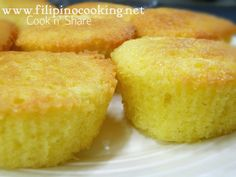 Mamon is a Filipino yellow sponge cake made with simple ingredients such as eggs, flour and sugar. It is sweet, soft and spongy.
