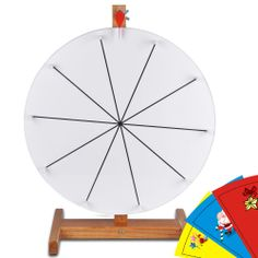 "16"" Prize Wheel Free Template DIY Design Tabletop Spin Game Trade Show Carnival"