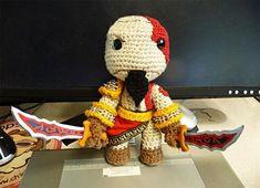 Kratos versión amigurumi.