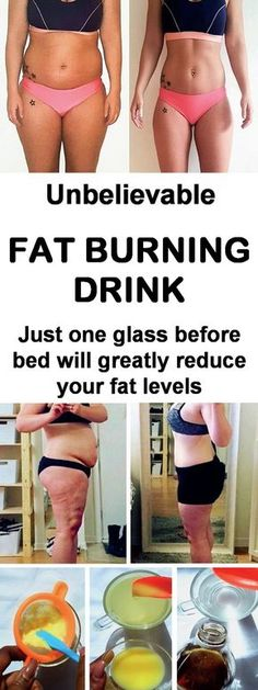 Bedtime fat burning drink