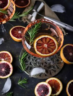 Blood Orange and Rosemary Mimosa-Style Cocktails in under 15 minutes!