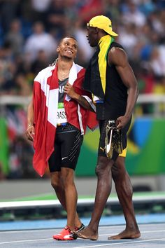 Andre De Grasse  amp  Usain Bolt at Rio Olympics 2016 Olympic Sports b98353cde