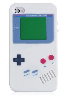 iPhone 4 4S Case Silicon Gameboy Game White www.GadgetPlus.ca