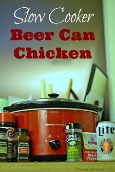 Slow Cooker Beer Can Chicken