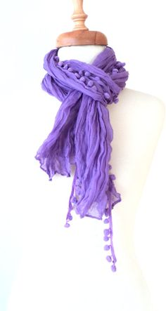 PurpleCottonScarfShawlBandanaHeadbandsRectangle by bestbazaar, $15.00