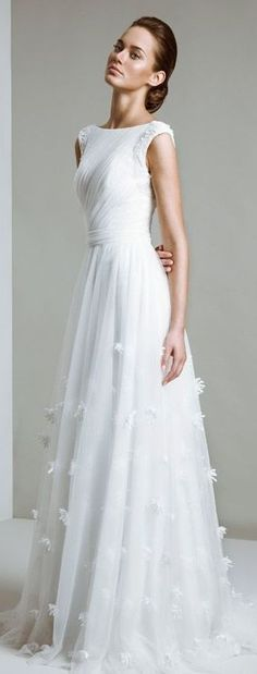 simple perfect wedding gown