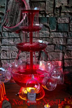 This would be fun for Halloween. How cool does this look? Dripping blood punch