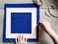 DIY Project: Fabric Covered Photo Mats