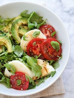 Avocado Caprese Salad http://Foodiecrush.com