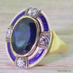 Victorian 5.50 Carat Sapphire, Diamond