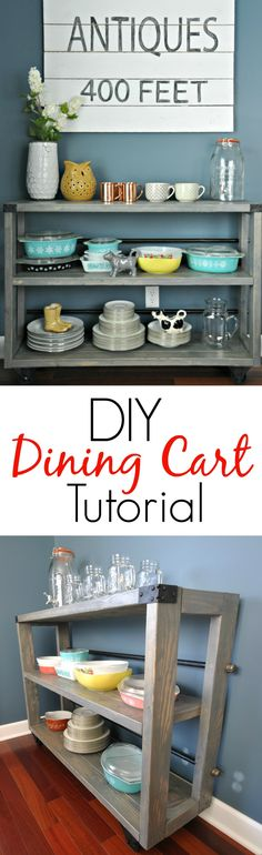 Build for extra storage Free DIY Furniture Project Plan: Learn How to Build a Dining Cart