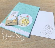 Super cute card created with the Stampin' Up! Snail Mail bundle. Snail Mail, Cute Cards, Stampin Up, Card Making, Super Cute, Create, Pretty Cards, Post Office, Stamping Up
