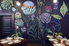 """210 Likes, 13 Comments - LUCYTIFFNEY (@lucytiffney) on Instagram: """"Thanks @churchsttavern for posing this pic of my allium mural #mural #muralart…"""""""