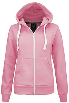 Forever Womens Plain Fleece Zip Hoodie Sweater *** You can find more details by visiting the image link.(This is an Amazon affiliate link)