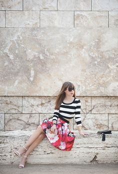 stripes with florals