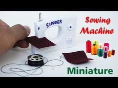 How to Make Realistic Miniature Sewing Machine See & Do Dollhouse - YouTube