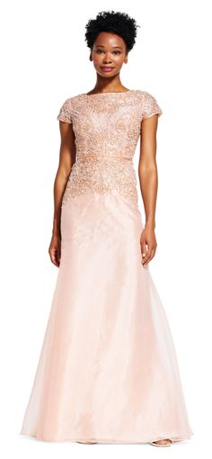 Prettiest dress for the Mother-of-the-Bride   Blush and gold mother ...
