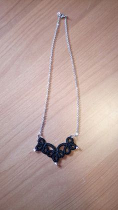 Tatting pendant with pink beads. Handwork - € 6
