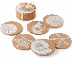 Beach Cork Coasters: http://www.beachblissdesigns.com/2016/08/beach-cork-coasters-set-of-6.html So simple and beachy. Great hostess gift too!