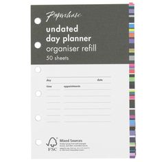 personal undated planner