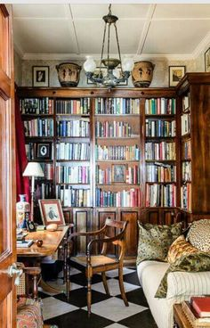 82 Most Inspirational Cozy Library Reading Book And Book Shelves 2019 - Library Room Design 53 Cozy Home Library, Home Library Design, Library Room, Dream Library, House Design, Library Corner, Beautiful Library, Library Ideas, Mini Library