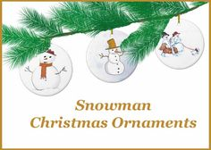 Winter Snowman Christmas Ornament Collection