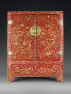 A RED-LACQUER CABINET, CHINA, QING DYNASTY, 17TH/18TH CENTURY http://www.sothebys.com/en/auctions/ecatalogue/2011/arts-dasie/lot.133.html