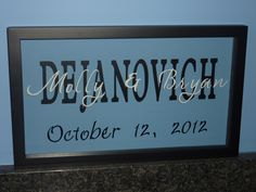 vinyl lettering on picture frames - Google Search