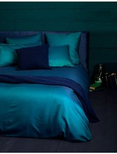Our Winter Jewels... Twill Teal with beautiful navy woolen throw and cushion.