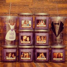 We love this Bridesmaid Proposal! This would also be cute as a favor with the wedding couple on it. You too can personalize a Yankee Candle online.