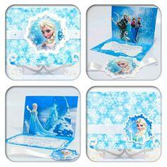 """Convites para festa tema """"Frozen"""" #festainfantil #convites"""