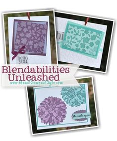 http://www.handstampedstyle.com features Regarding Dahlia and Spring Flowers embossing Folder for Blendabilities Unleashed Feb Class.