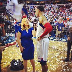 Philadelphia 76ers ‏@Sixers  Andre @mindofai9 after BIG #GameFour win!