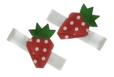 Itty Bitty Berry Clippies-strawberry, fruit, berry, summer, gymboree, gymbo, farm, strawberries