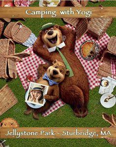 ♣ Etiquetas Invitacion cumpleaños Yogi Bear - Ideas Fiestas Osos, Picnic , Camping, Backyard