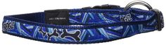 Premium Pattern Ribbon Designer Dog Collar for Large Dogs, Adjustable from 13-22 inches, Navy Zen Fresh Spring Design -- You can find out more details at the link of the image. (This is an affiliate link) #DogLovers