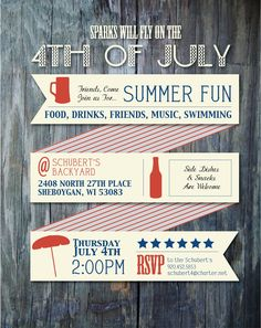 Invitation Layout, 4th of july, stationary, Graphic Design Inspiration  AS Graphic Designs ashleyschubertdesigns.com