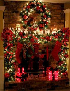 Christmas time....draw out a large fireplace on open piece of wall space under tv