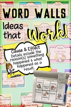 10 great ideas for using word walls in a middle school classroom.