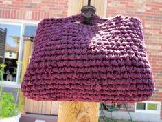 Eggplant Purple Handmade Crochet Rag Bag