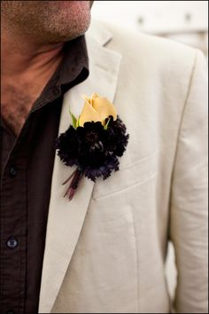 & Mrs Jones wedding at Ole Hansons Beach Club, San Clemente by Krista Jon Couture Designs Brooch Boutonniere, Boutonnieres, Wedding Boutonniere, Chocolate Cosmos, Chocolate Coffee, Mr And Mrs Jones, Black Bouquet, S'mores Bar, Blush Makeup