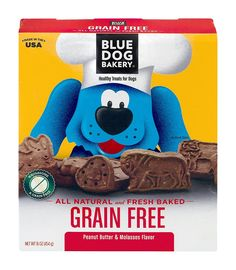 Blue Dog Bakery Grain Free Peanut Butter and Molasses Snacks, 16 ounce (Pack of 6) ** For more information, visit image link. (This is an affiliate link and I receive a commission for the sales)