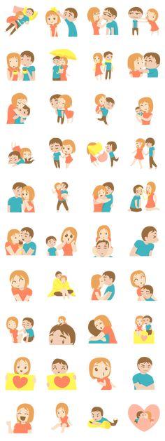 Couples - LINE Creators' Stickers
